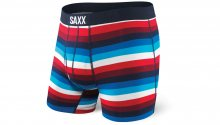 Saxx Ultra Boxer Brief Fly Navy/Red Cabana Stripe Multicolor SXBB30FNCS