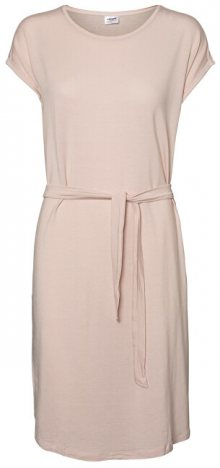 Vero Moda Dámské šaty Ava Plain Ss Knee Dress Vma Sepia Rose XS