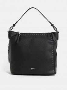 Černá kabelka s detaily ve stříbrné barvě Gionni Aurea