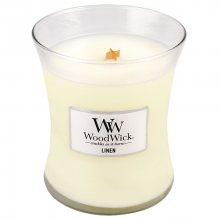 WoodWick Vonná svíčka váza Linen 275 g