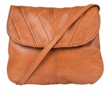 Pieces Dámská crossbody kabelka Lilac Leather Cross Body Cognac