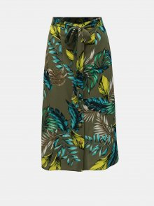 Khaki vzorovaná sukně Dorothy Perkins