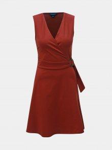 Cihlové šaty se sponou Dorothy Perkins