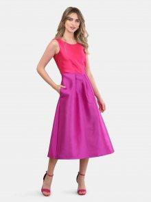Růžovo-fialové midišaty Closet