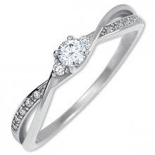 Brilio Zlatý zásnubní prsten s krystaly 229 001 00812 07 49 mm