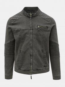 Tmavě šedá džínová bunda ONLY & SONS Ray