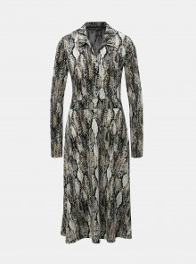 Béžové košilové šaty s hadím vzorem Dorothy Perkins Tall