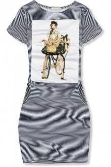 Modro-bílé pruhované šaty FRENCH GIRL IV.