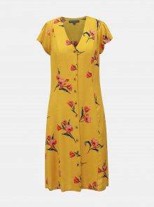 Hořčicové květované šaty Dorothy Perkins Tall