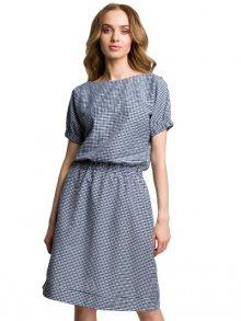 Made of Emotion Dámské šaty M376_navy blue\n\n