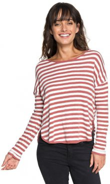 Roxy Dámské triko Curious Direction Whitered Rose Big Simple Stripe ERJKT03464-MMG1 XS