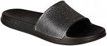 Coqui Dámské pantofle Tora Black/Silver Glitter 7082-301-2200 36