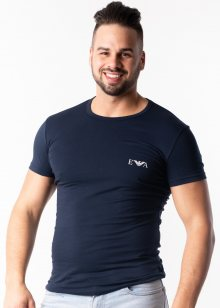 Pánské tričko Emporio Armani 111670 9P715 M Tm. modrá