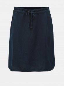 Tmavě modrá lněná sukně Tom Tailor