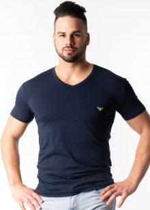 Pánské tričko Emporio Armani 110810 9P723 L Tm. modrá