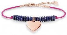 Thomas Sabo Růžový náramek s modrými korálky a srdíčkem LBA0081-906-1-L19,5v