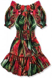 Červeno-zelené šaty Serena/O'la Voga