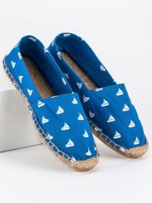 Modré espadrilky