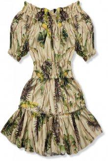 Béžovo-žluté šaty Serena/O'la Voga