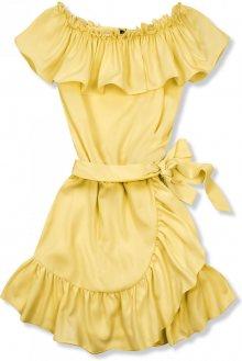 Světle žluté volánové šaty Olivia/O'la Voga
