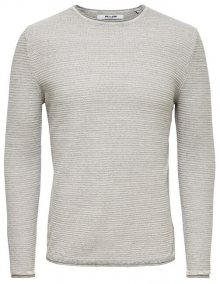 ONLY&SONS Pánský svetr Wictor 12 Structure Crew Neck Noos Light Grey Melange S