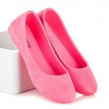 Pohodlné a luxusní růžové baleríny