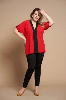 CINDY červeno-černá košile