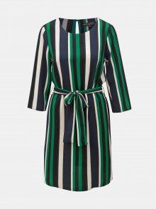 Bílo-zelené pruhované šaty Dorothy Perkins