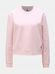 Světle růžová dámská mikina Calvin Klein Jeans