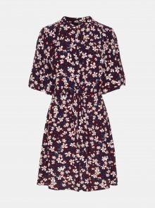 Vínové áčkové květované šaty VERO MODA Billia