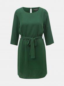 Zelené šaty s páskem Dorothy Perkins