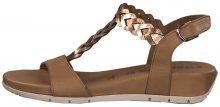 Tamaris Dámské sandále 1-1-28231-22-380 Cogn/Rose Met 37