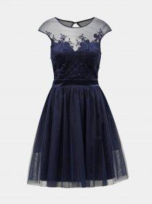 Tmavě modré šaty s výšivkou Dorothy Perkins