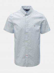 Světle modrá vzorovaná slim fit košile Tommy Hilfiger