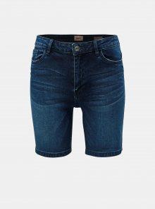 Tmavě modré džínové skinny kraťasy ONLY Corin