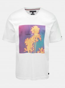 Bílé pánské tričko s potiskem Tommy Hilfiger Tomorrow