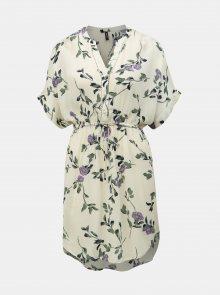 Krémové květované šaty VERO MODA Amsterdam