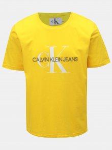 Žluté pánské tričko s potiskem Calvin Klein Jeans