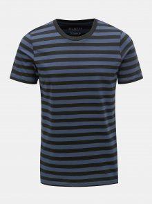 Modro-černé pruhované basic tričko Selected Homme