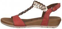 Tamaris Dámské sandále 1-1-28231-22-597 Red Comb 37