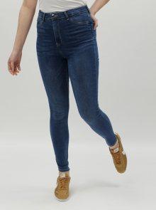 Modré skinny džíny s vysokým pasem TALLY WEiJL