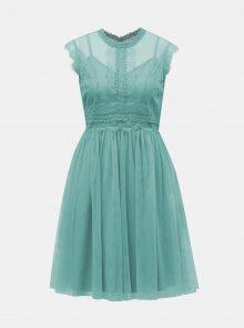 Světle modré šaty s krajkovým topem Little Mistress