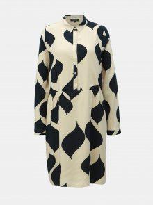 Krémové vzorované šaty Selected Femme Bonny