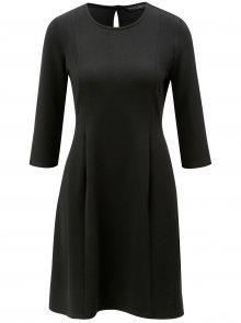 Černé šaty s 3/4 rukávem Dorothy Perkins