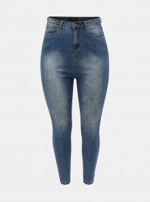 Modré slim fit džíny s vysokým pasem Dorothy Perkins Curve