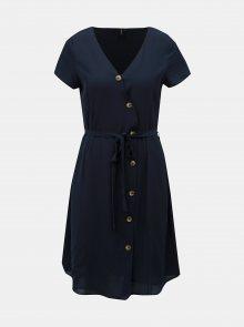 Tmavě modré šaty VERO MODA Annika