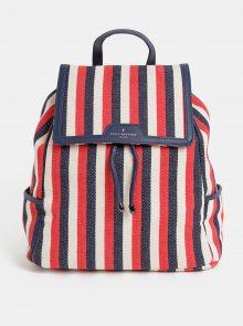 Modro-červený pruhovaný batoh Paul\'s Boutique Cassandra