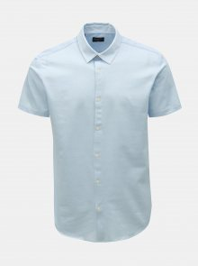 Světle modrá slim fit košile s krátkým rukávem Selected Homme