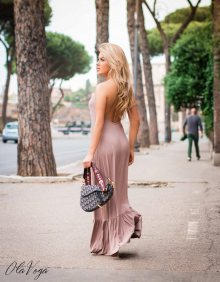 Béžové šaty MAXI BEACH/O'la Voga
