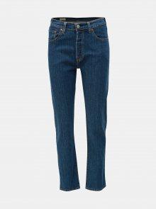 Tmavě modré dámské zkrácené straight fit džíny Levi\'s® 501